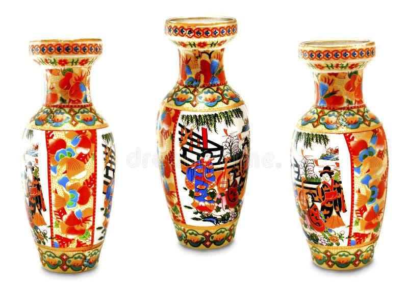 kinesisk gammal vase arkivbilder