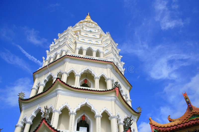 kinesisk georgetown pagoda arkivbilder