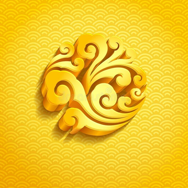 Kinesisk grafisk design stock illustrationer