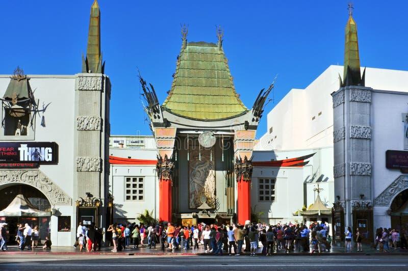 kinesisk grauman hollywood s för boulevard theatre royaltyfria foton