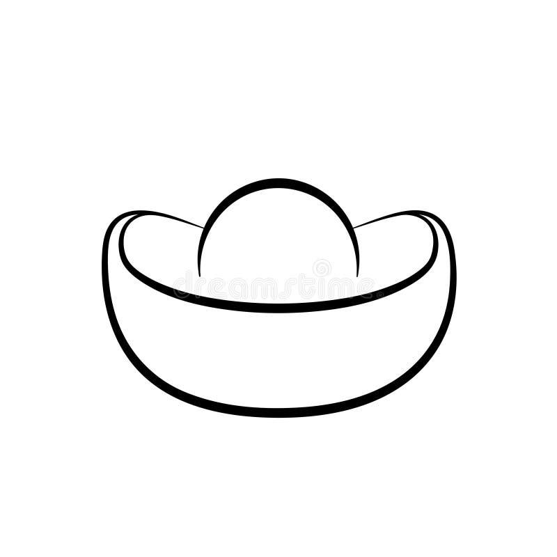Kinesisk guld- tackaöversiktssymbol vektor illustrationer