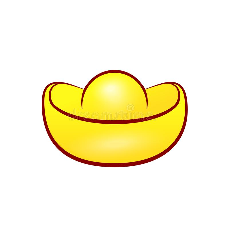 Kinesisk guld- tackasymbol vektor illustrationer