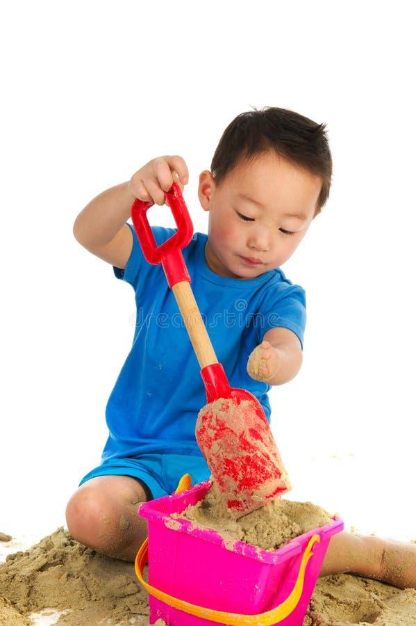 kinesisk handikapplampa för pojke fysiskt royaltyfria foton