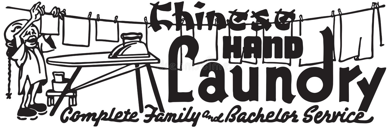 Kinesisk handtvätteri stock illustrationer