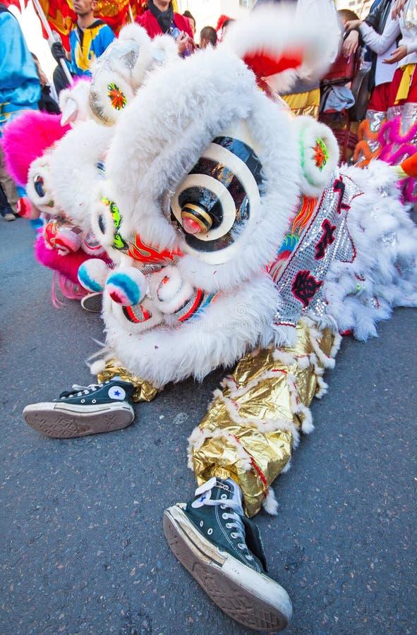 kinesisk head lion arkivbilder