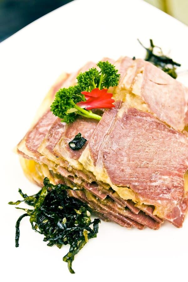 kinesisk kall läcker maträttmatmeat arkivbilder
