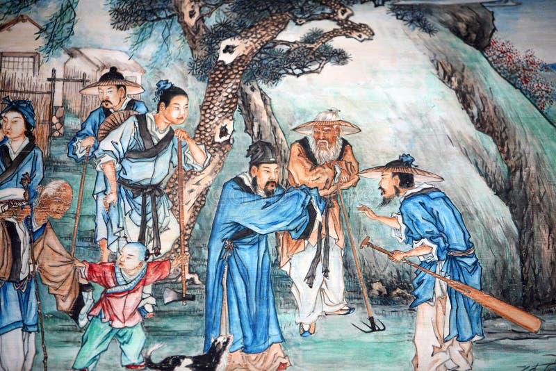 kinesisk klassisk målning stock illustrationer