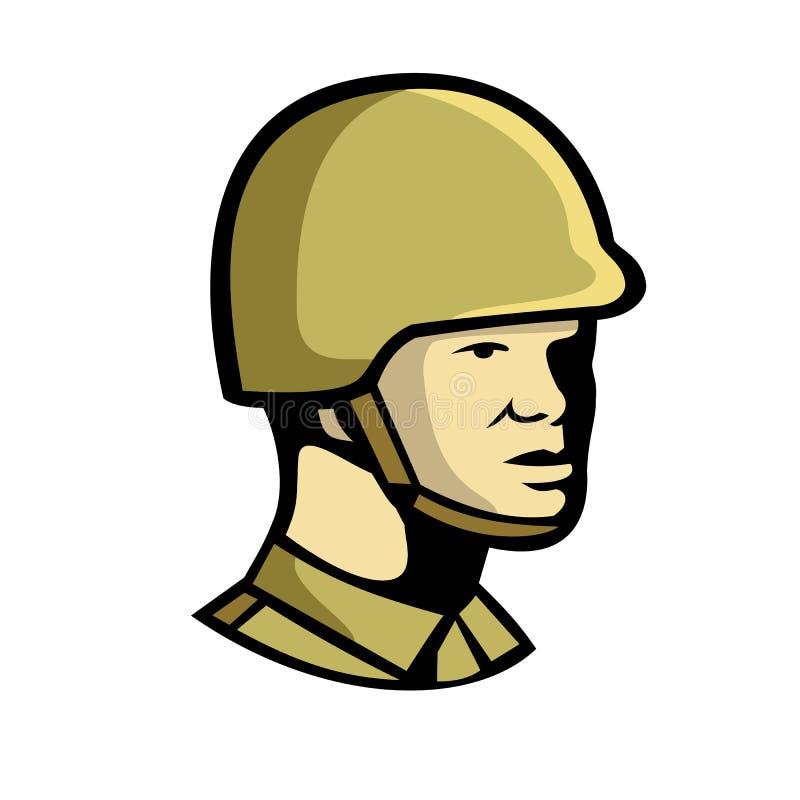 Kinesisk kommunistisk soldat Icon stock illustrationer
