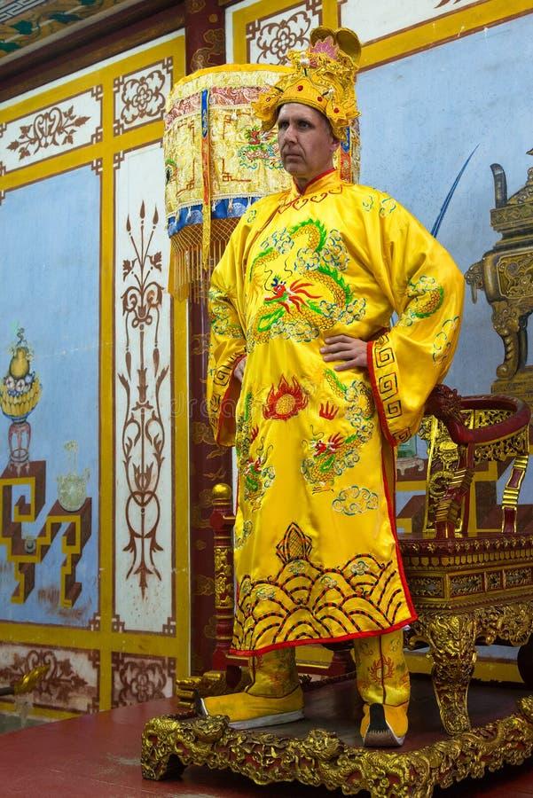 Kinesisk konung, kejsare, linjal, royalty royaltyfria bilder