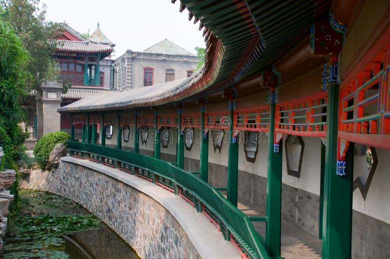 kinesisk korridor arkivbild