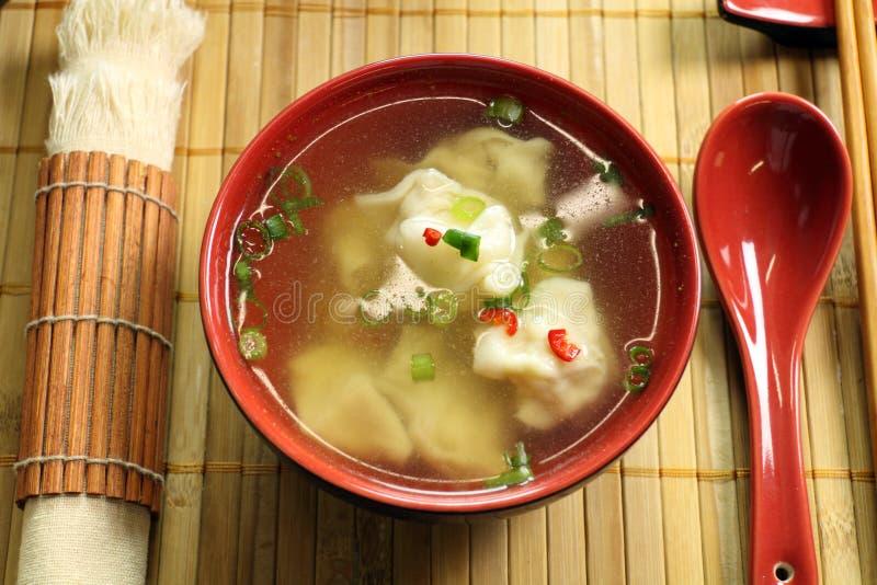kinesisk kort soup royaltyfria bilder