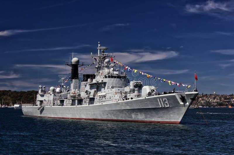 Kinesisk krigsskepp i Sydney arkivbilder