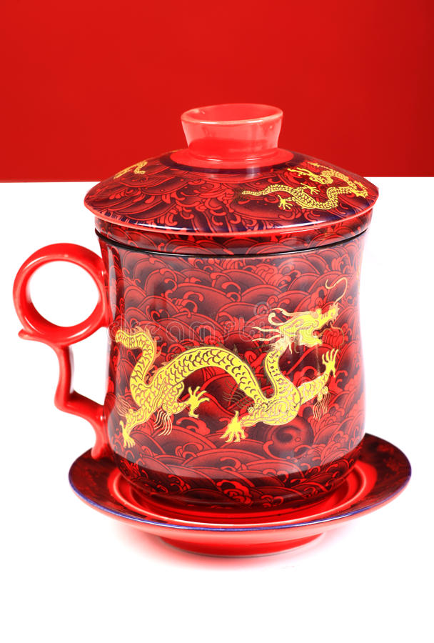kinesisk krukatea royaltyfria foton