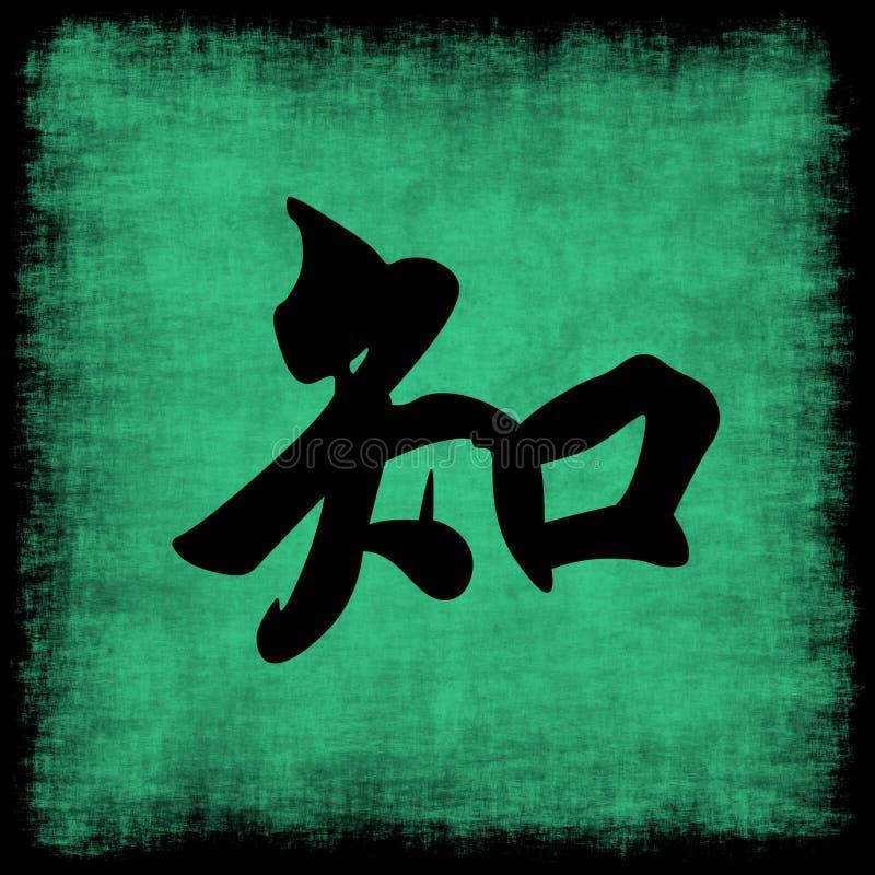 kinesisk kunskapsset för calligraphy stock illustrationer