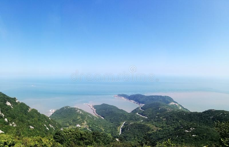 Kinesisk kustlinje royaltyfria foton