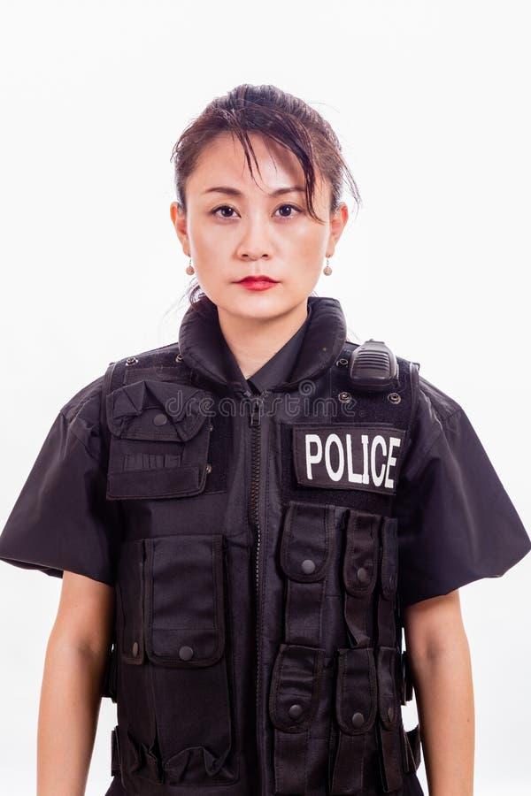 Kinesisk kvinnlig polis arkivbilder