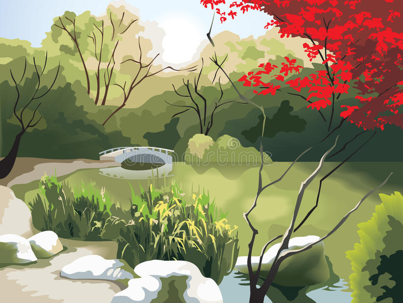 kinesisk liggande royaltyfri illustrationer