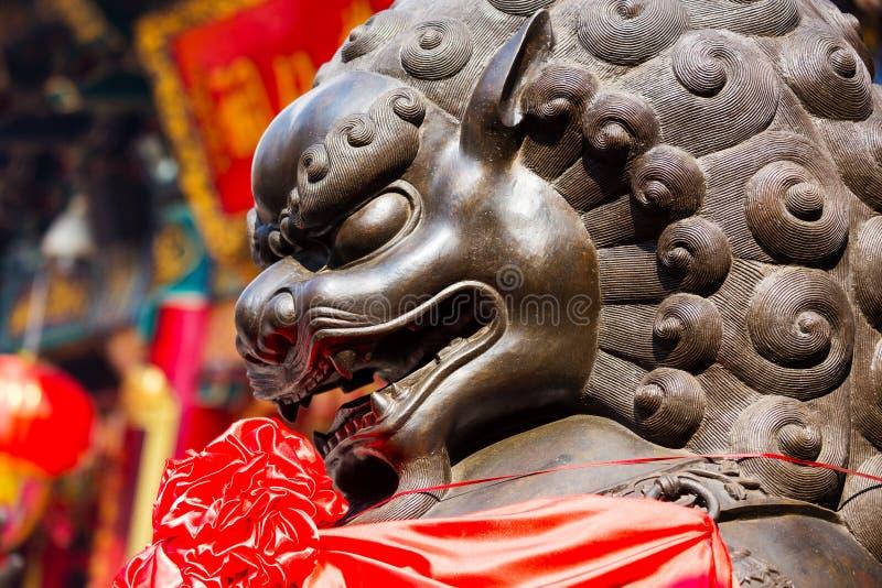 kinesisk lionssten arkivfoton