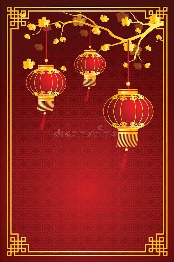 Kinesisk lyktamall royaltyfri illustrationer