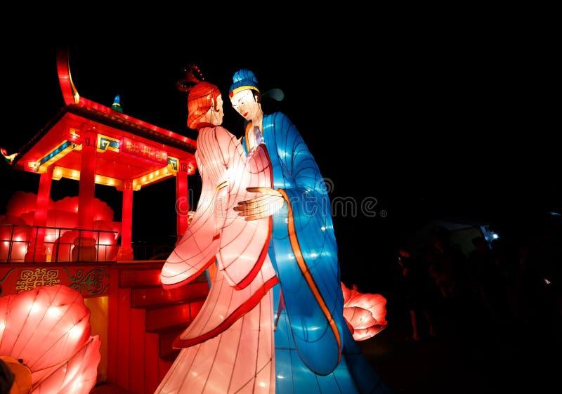 Kinesisk lyktashow royaltyfri foto