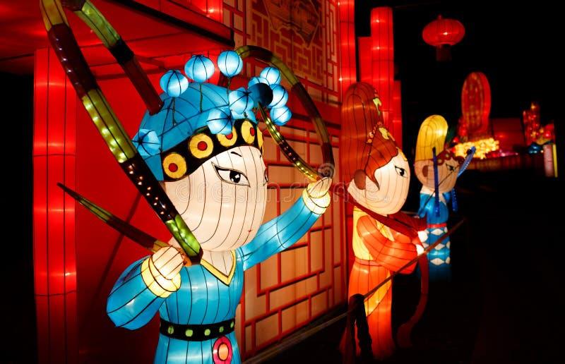 Kinesisk lyktashow arkivfoton