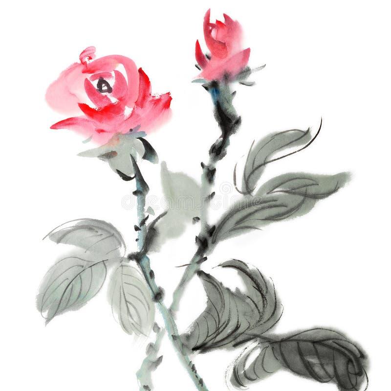 kinesisk målning royaltyfri illustrationer