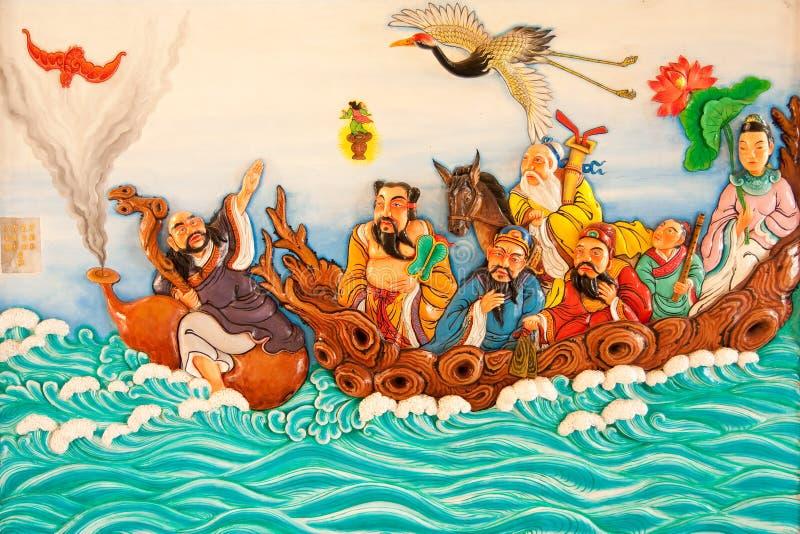 kinesisk målningsstil för konst royaltyfri bild