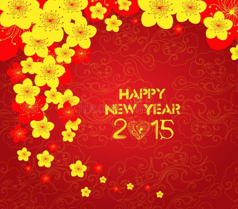 Kinesisk mallbakgrund för nytt år