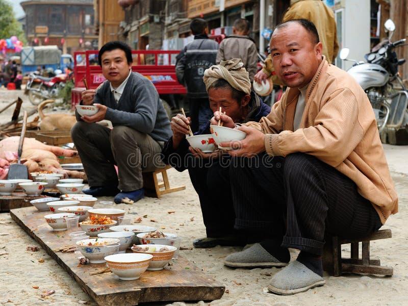 kinesisk matgata arkivfoton