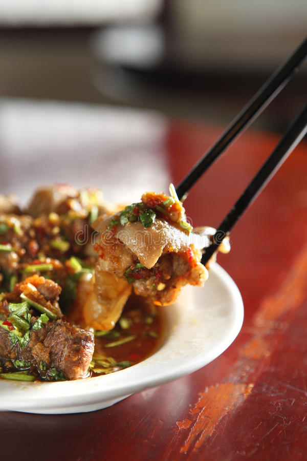 kinesisk matmålpork royaltyfri fotografi