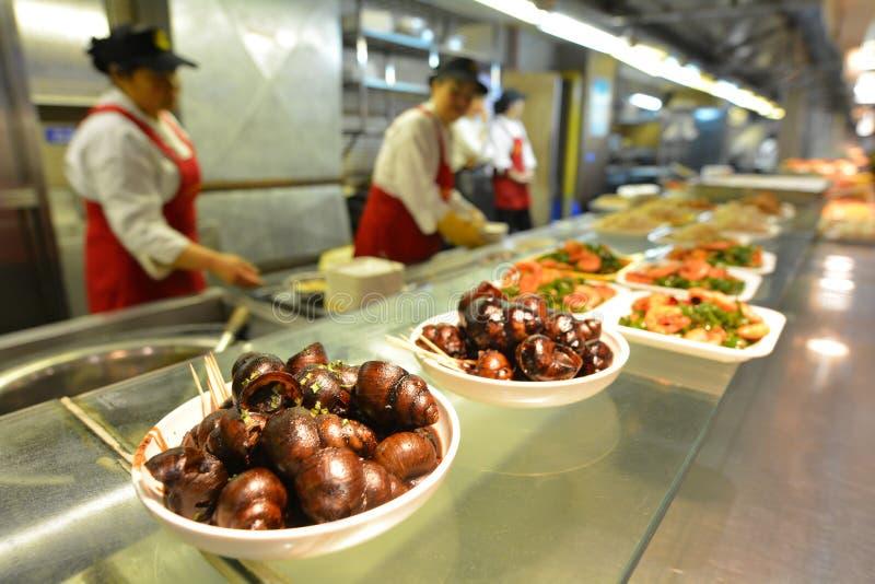 Kinesisk matmarknad i Shanghai Kina arkivfoto
