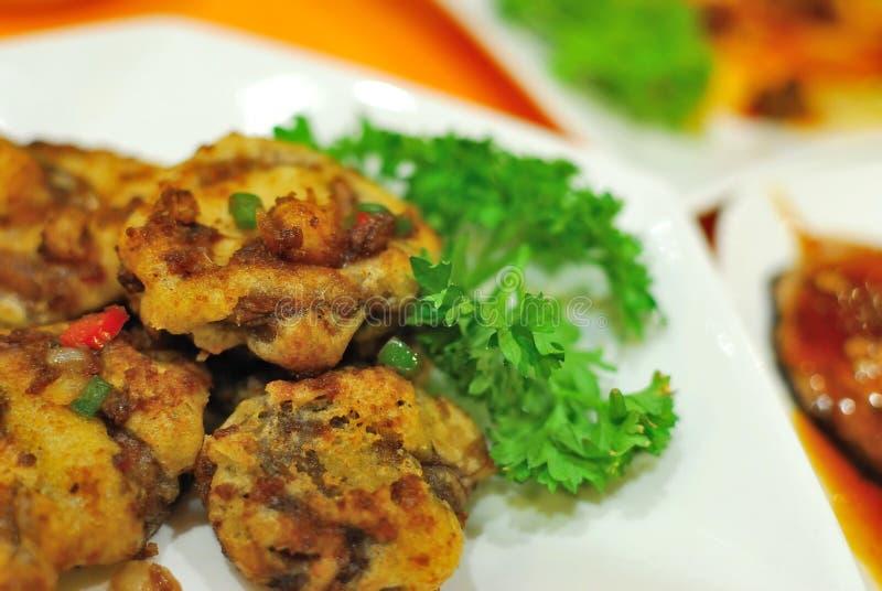 kinesisk meatåtlöjevegetarian arkivbild