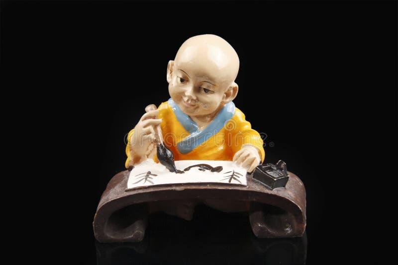 kinesisk monkskulptur arkivfoton