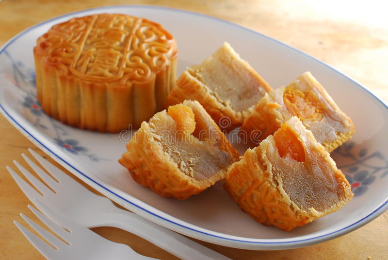 Kinesisk mooncake royaltyfria foton