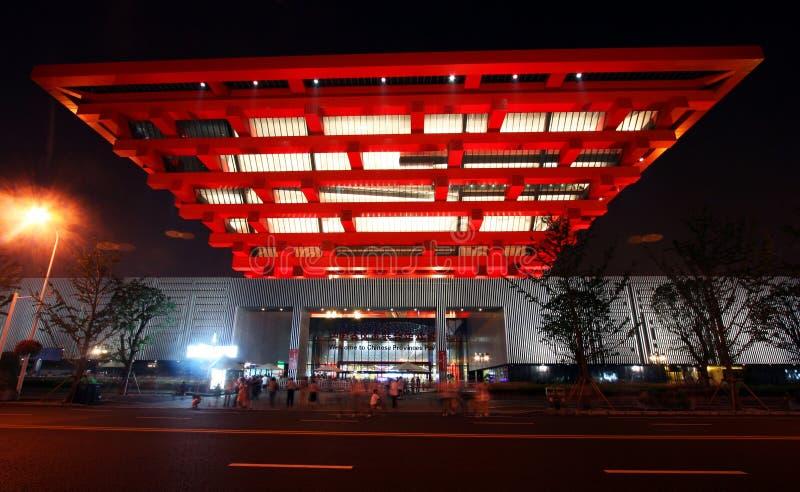 kinesisk nattpaviljongsikt royaltyfri bild