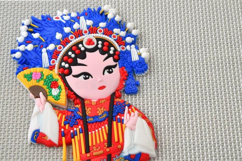 Kinesisk operakylmagnet av gemålen Yang Gui Fei royaltyfri bild