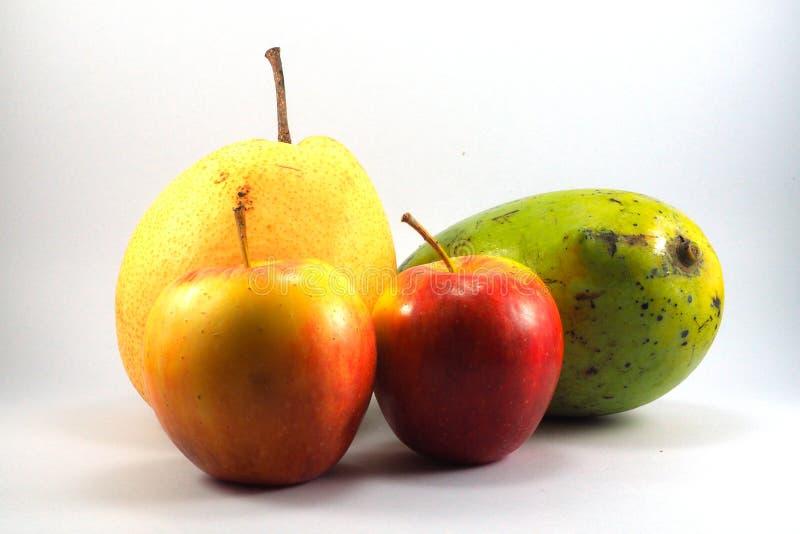 Kinesisk päronmango för röda äpplen royaltyfri fotografi