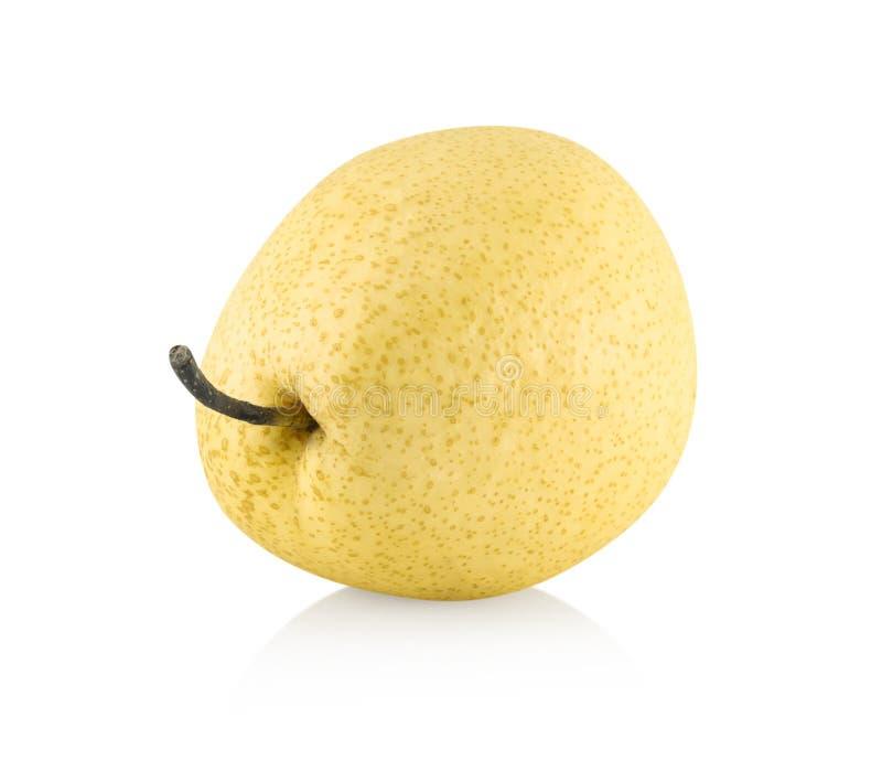 Kinesisk p?ronfrukt med skivat isolerat p? vit bakgrund royaltyfri foto