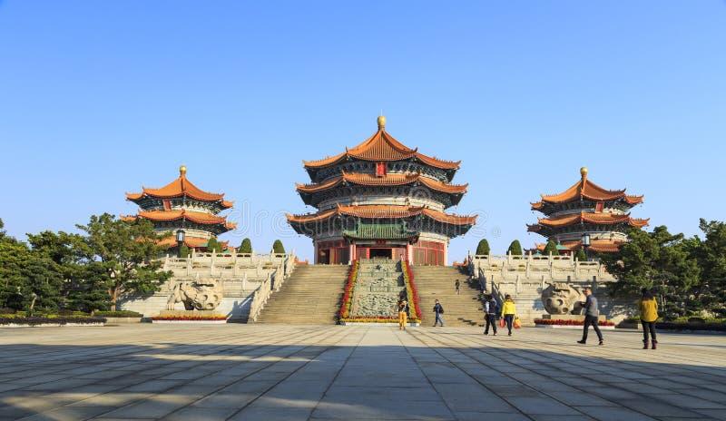 Kinesisk pagod i den yuanxuan taoisttemplet guangzhou, Kina royaltyfria foton