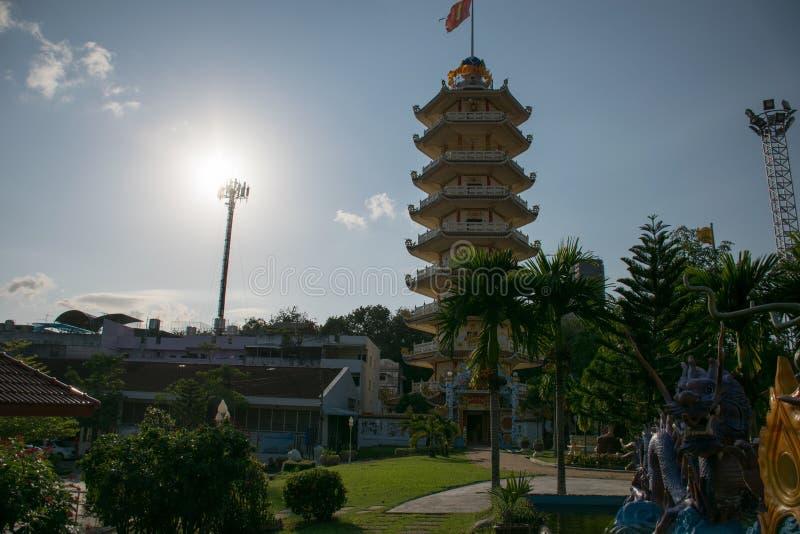 Kinesisk pagod på Hatyai, Songkhla, Thailand arkivbild