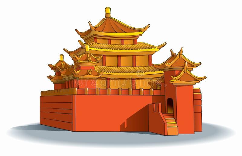 kinesisk pagoda royaltyfri illustrationer