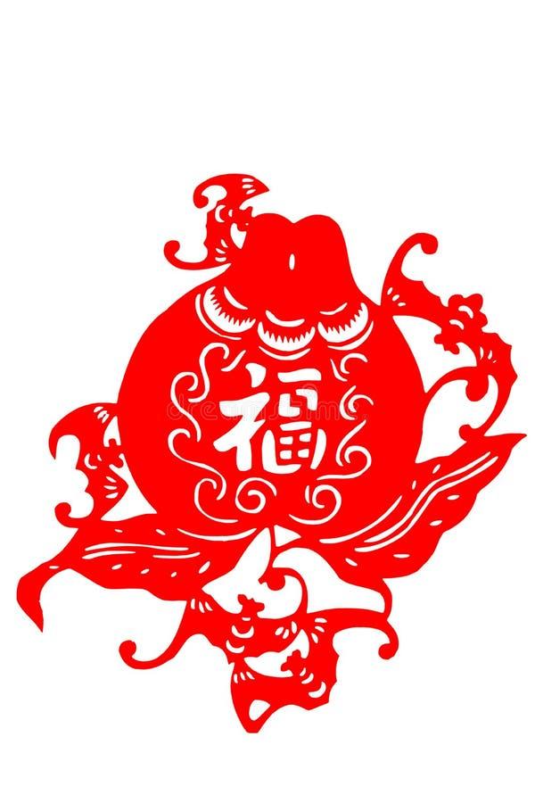 Kinesisk papper-snitt fu arkivbilder