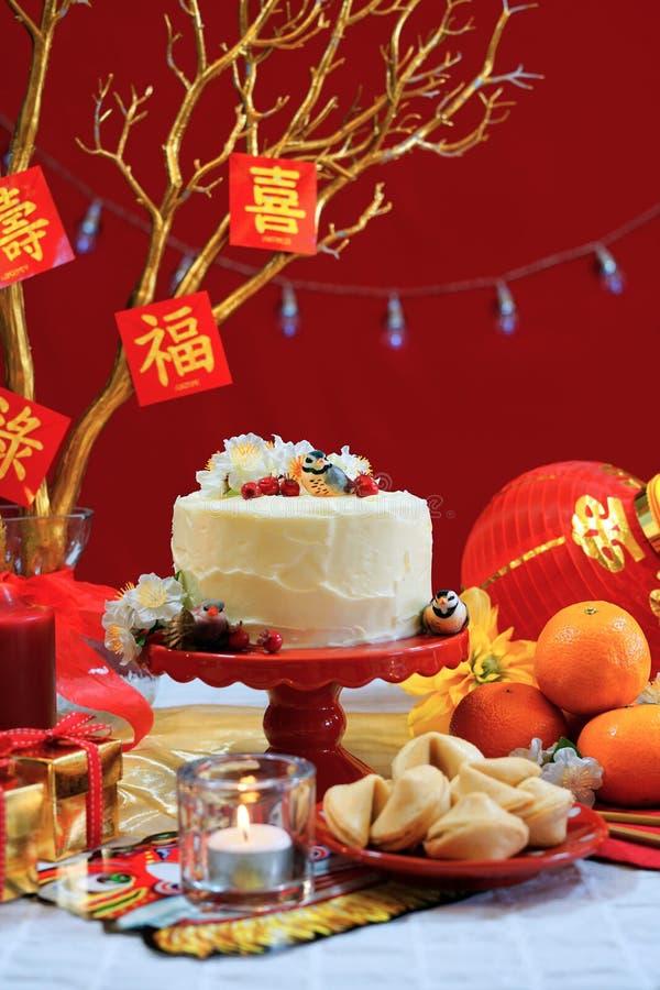Kinesisk partitabell för nytt år royaltyfria foton