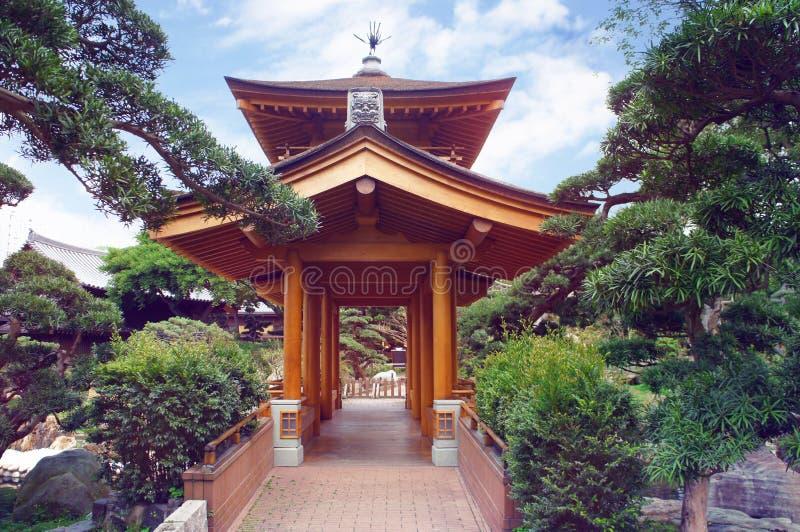 Kinesisk paviljong av Tang Dynasty stil i Hong Kong royaltyfri bild
