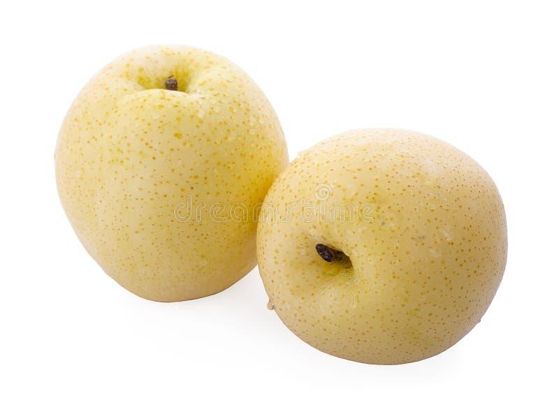 Kinesisk pear på vitbakgrund arkivbild