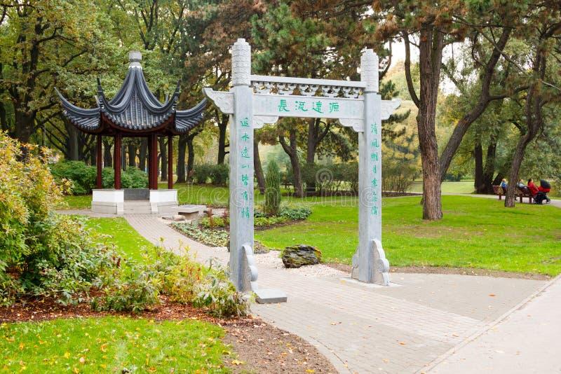 Kinesisk pergola arkivfoton