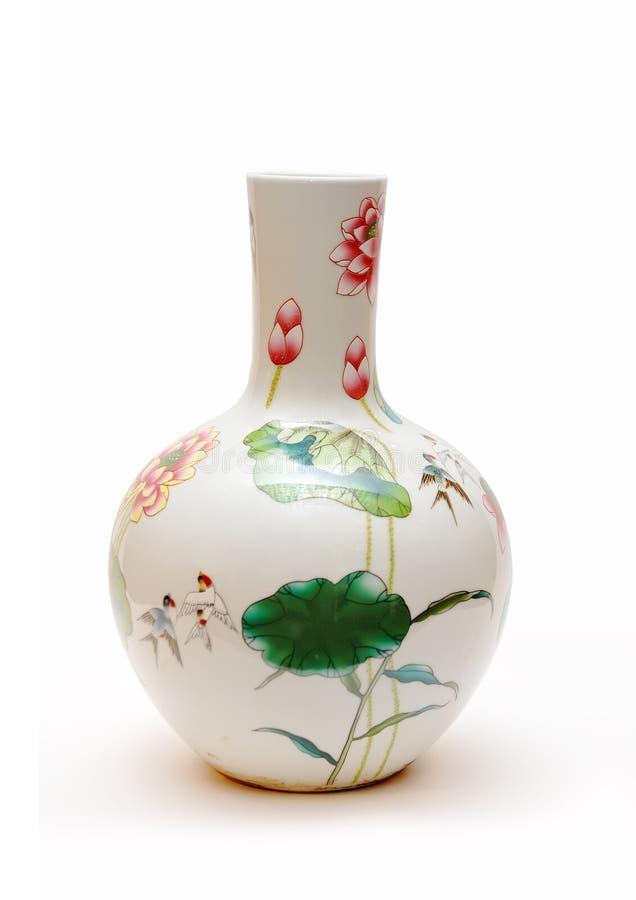 kinesisk porslinvase arkivbilder