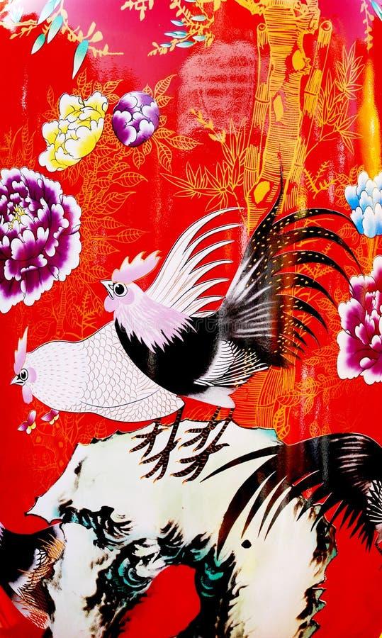 kinesisk porslinvase royaltyfri fotografi