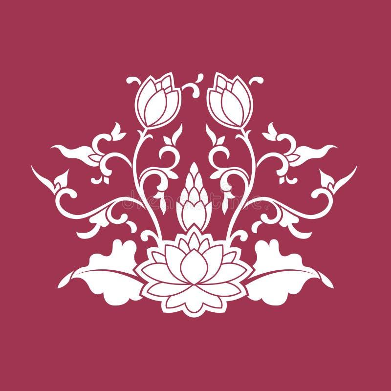 kinesisk prydnadvektor royaltyfri illustrationer