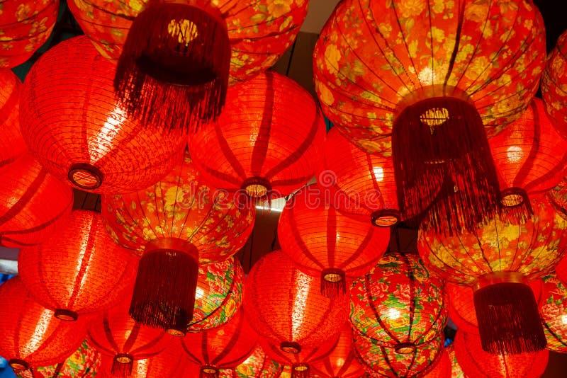 Kinesisk röd garnering för pappers- lykta royaltyfri foto